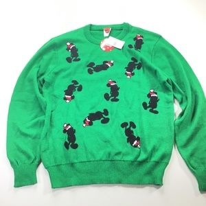 Disney Mickey Christmas LIMITED  Sweater Green NWT